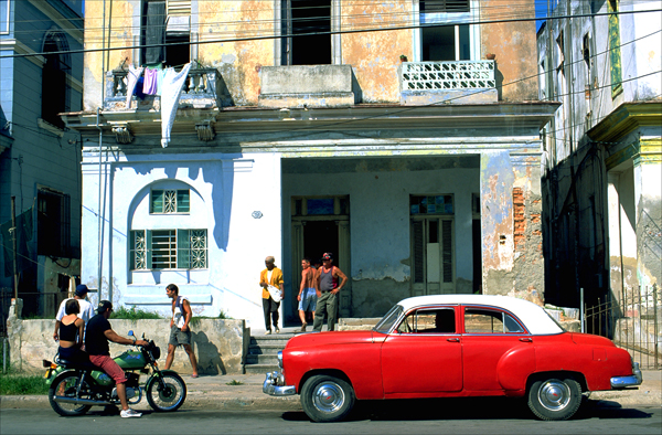 A vintage early 1950s Chevrolet in Havana's Vedado neighborhood.