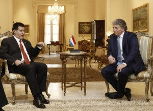 Simon Falic with the President of Paraguay