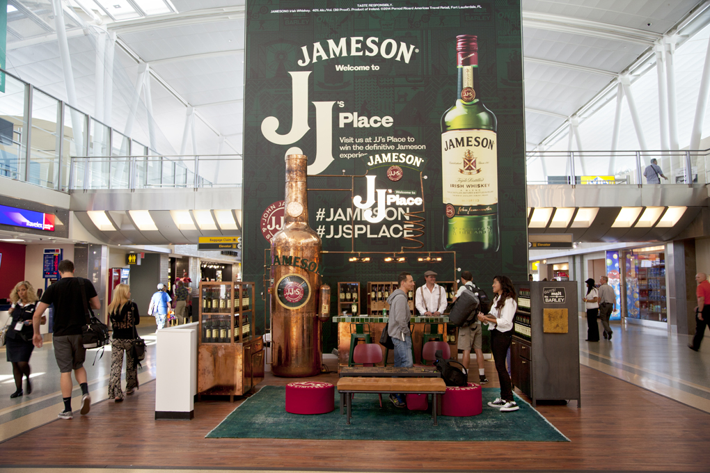 "JCDecaux presented Pernod Richard with its 2015 award for the Best Campaign for Experiential in Airports for the Jameson campaign run in New York JF Kennedy International Airport and Miami International Airport last year. The activation had also been run in several European airports, according to Erwin Maldonado, VP Marketing at Pernod Ricard Americas Travel Retail. ""The Jameson campaign we ran with JCDecaux was the most successful Pop-up for Pernod Ricard in terms of the number of visitors, tastings and digital noise that it created among consumers,"" Maldonado tells TMI. ""This Pop-up is a clear example of not only image but an engaging experience looking to entertain the passenger while they wait for their flights. ""As a company it's always motivating to get the recognition for your brand activations and an award is certainly a great recognition. Coming from such a prestigious partner as JCDecaux reinforces the job that Jameson is doing in looking for innovative ways to entertain its traveling consumers."""