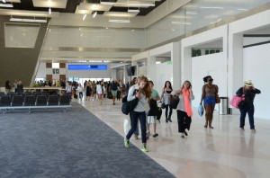 The new G concourse at FLL