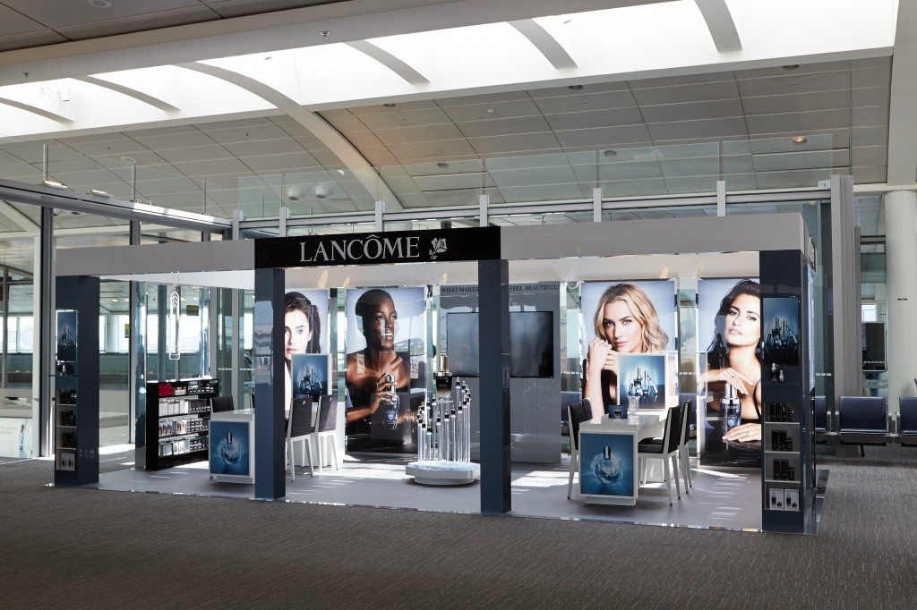 Lancôme's Advanced Génifique podium in Toronto Pearson International Airport in June