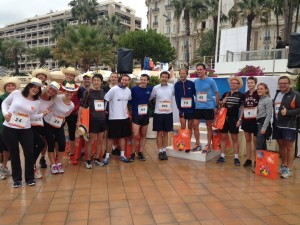 Runners at the TFWA Charity Run, which took place on Sunday morning in Cannes.