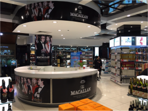 EWTRA featured a tasting bar for Macallan and Highland Park at Vancouver International Airport in October.