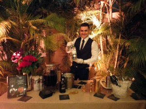 Miroslav Kljajic from Carnival Cruise Lines show-casing his winning Blueberry Elixer Fizz in Miami at the Bacardi Legacy Cruise Competition final on Feb. 25.