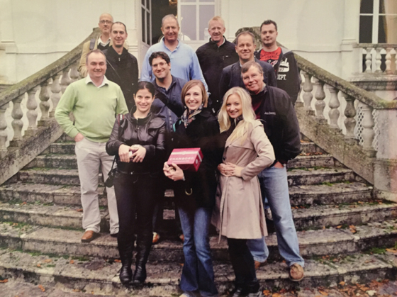 Bubenhofer was the guiding force behind the most memorable of BrownForman's duty free press trips, such as this visit to Chambord in 2012.