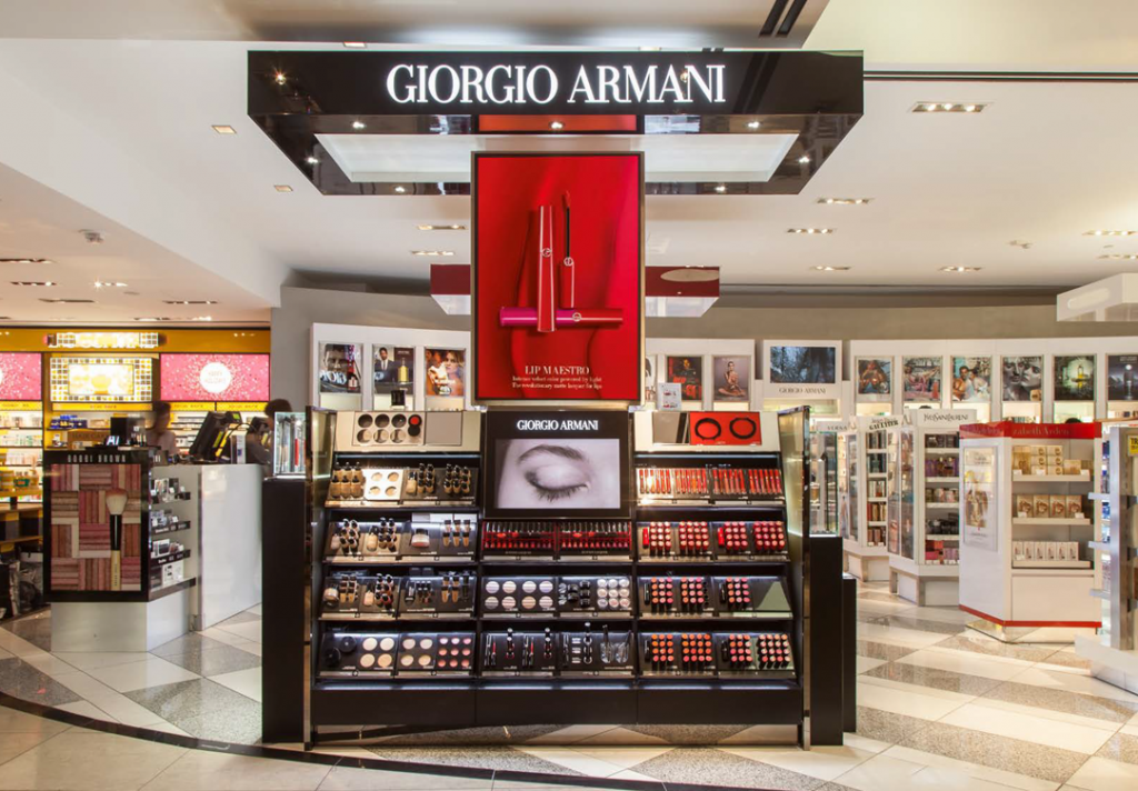 Giorgio Armani Beauty is now featured at San Francisco International Airport.