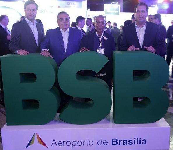 Martin Eurnekian, AA2000 and president elect ACI-LAC; Hector Navarrete Muñoz, ASUR and retiring president ACI-LAC; Angela Gittens, and Javier Martinez Botacio, executive director of ACI-LAC.