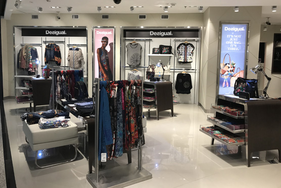 Desigual's temporary pop-up store adjacent to the sunglasses area in Dufry's Accessories store in T2, which will be open to October 2017. Dufry operates a total of 13 Desigual stores in Latin America, including in Cancun, Los Cabos, Puerto Vallarta, Punta Del Este, Montevideo and Santiago Airports.