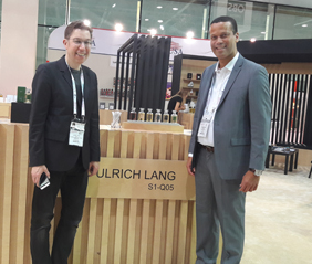 Hera managing partner Laurent Lamotte (right) with Ulrich Lang (left), creator of the Ulrich Lang New York fragrances.
