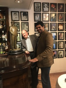 Haleybrooke International's Patrick Nilson and WTR's Gautom Menon, at Patsy's Italian in Manhattan,  known as Frank Sinatra's favorite restaurant in New York City.