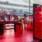 An explosion of reds highlight the playful, immersive experience at the Giorgio Armani L.A. Lip Vibes Pop-Up at LAX that ran through June 15, 2018.