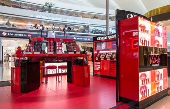 Giorgio Armani Unveils L A Lip Vibes At Lax Duty Free And Travel Retail News Travel Markets Insider