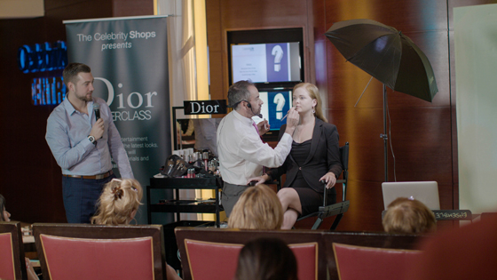 Guests learn the latest looks in a Dior Masterclass conducted by certified makeup artists and enjoy a Dior Fashion Show on the Celebrity Equinox.
