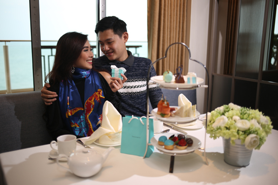 High Tea with Tiffany at Sea. The first Tiffany & Co. store at sea in Asia enhances its full selection of Tiffany jewelry on the World Dream with a special tea event featuring a set menu and showcasing exclusive Tiffany treats and British delicacies.