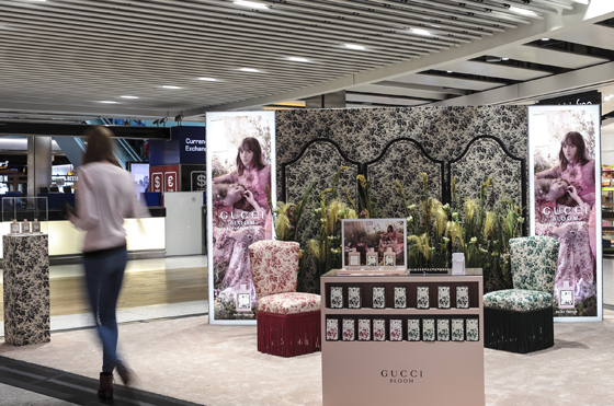 bc2afe1b0 Coty's stunning pop-ups for Gucci Bloom have enhanced airports throughout  the world.